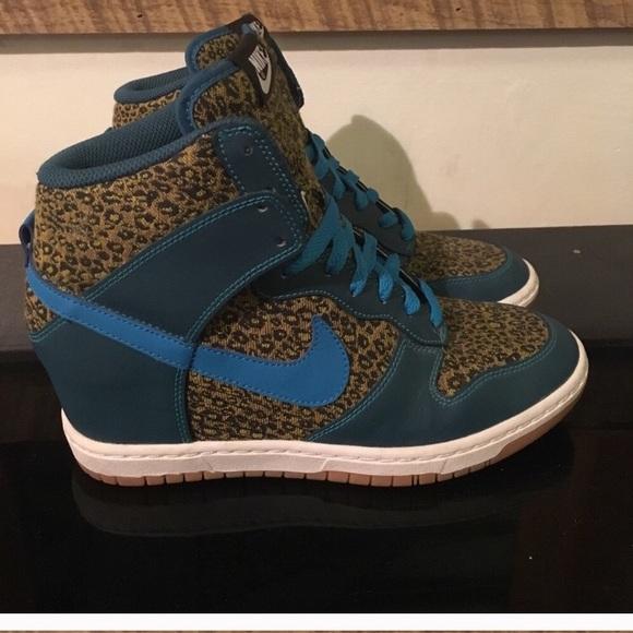 Nike ID  rare  Women s Blue   Leopard Sky Hi Dunks.  M 5b84a9e774359bd525edff5d 1f5c06732